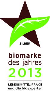 Biomarke des Jahres 2013 silber Biotee