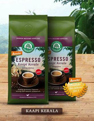 Lebensbaum Kaapi Kerala Bio-demeter-Espresso