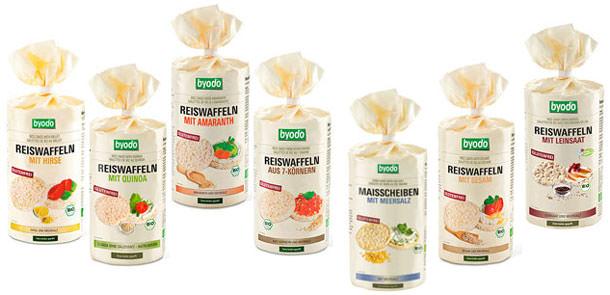 Byodo Bio-Reiswaffeln und Maisscheiben