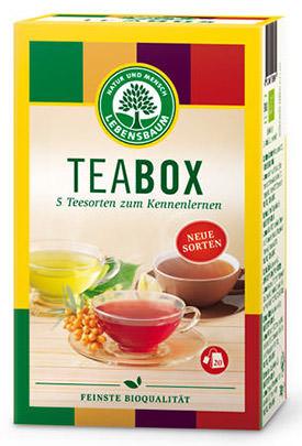 Teabox von Lebensbaum Bio-Tee