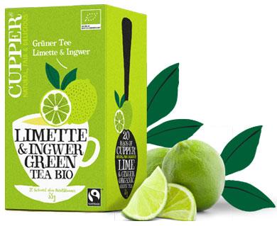 Cupper Grüntee Limette-Ingwer