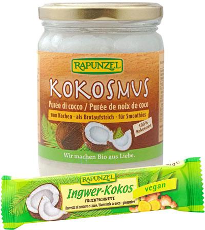 Rapunzel Kokosmus Kokos-Ingwer-Schnitte