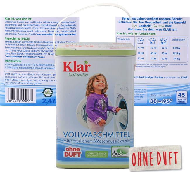 Klar Vollwaschmittel Vorteilsbox Waschnuss